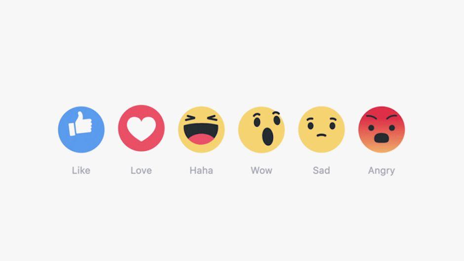 Ya llegaron las nuevas reacciones de Facebook